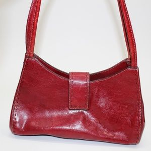 Fossil Red Leather Shoulder Purse